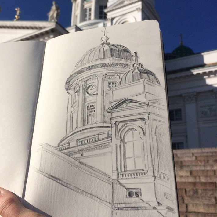 Helsinki Cathedral, graphite