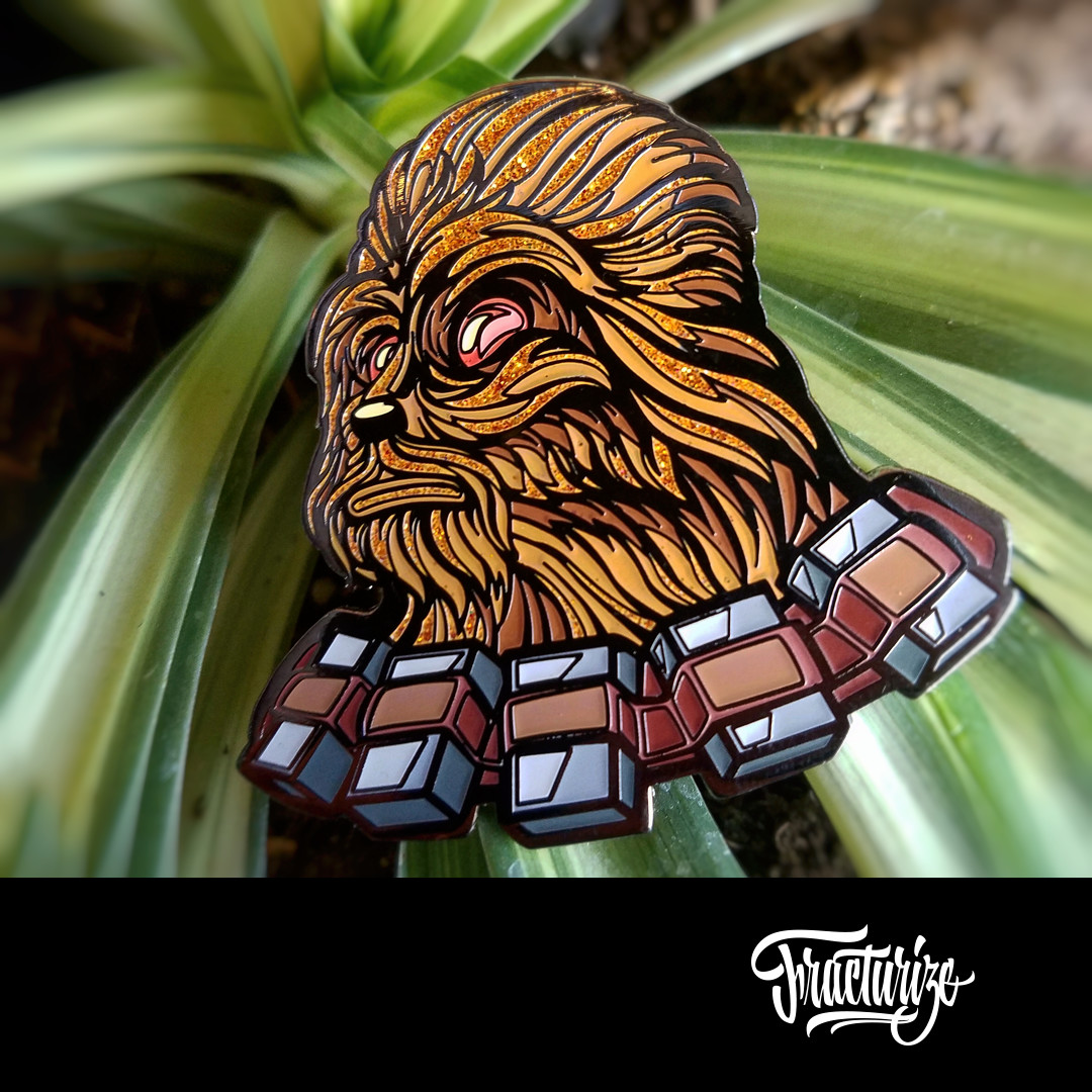 ArtStation - Darth Chewie Enamel pin designs by Fracturize