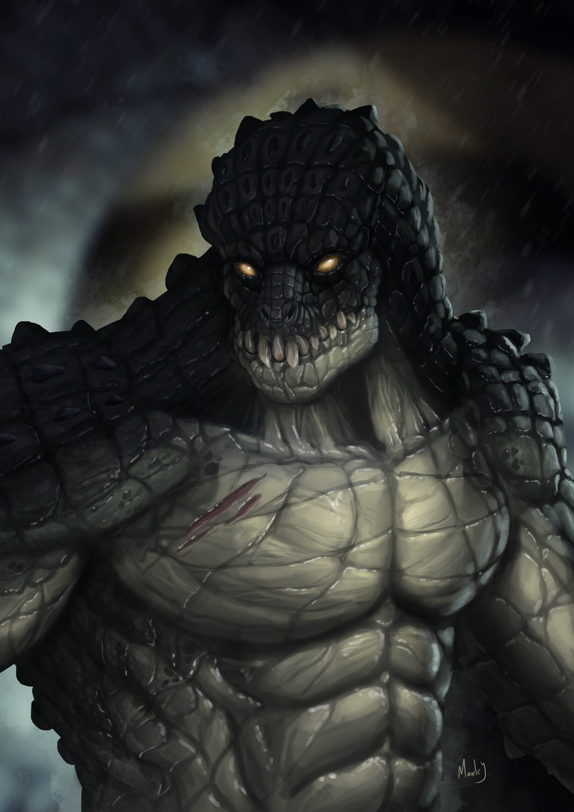 how to draw killer croc