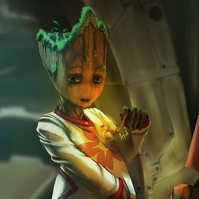 Claudia pistritto baby groot sakura final