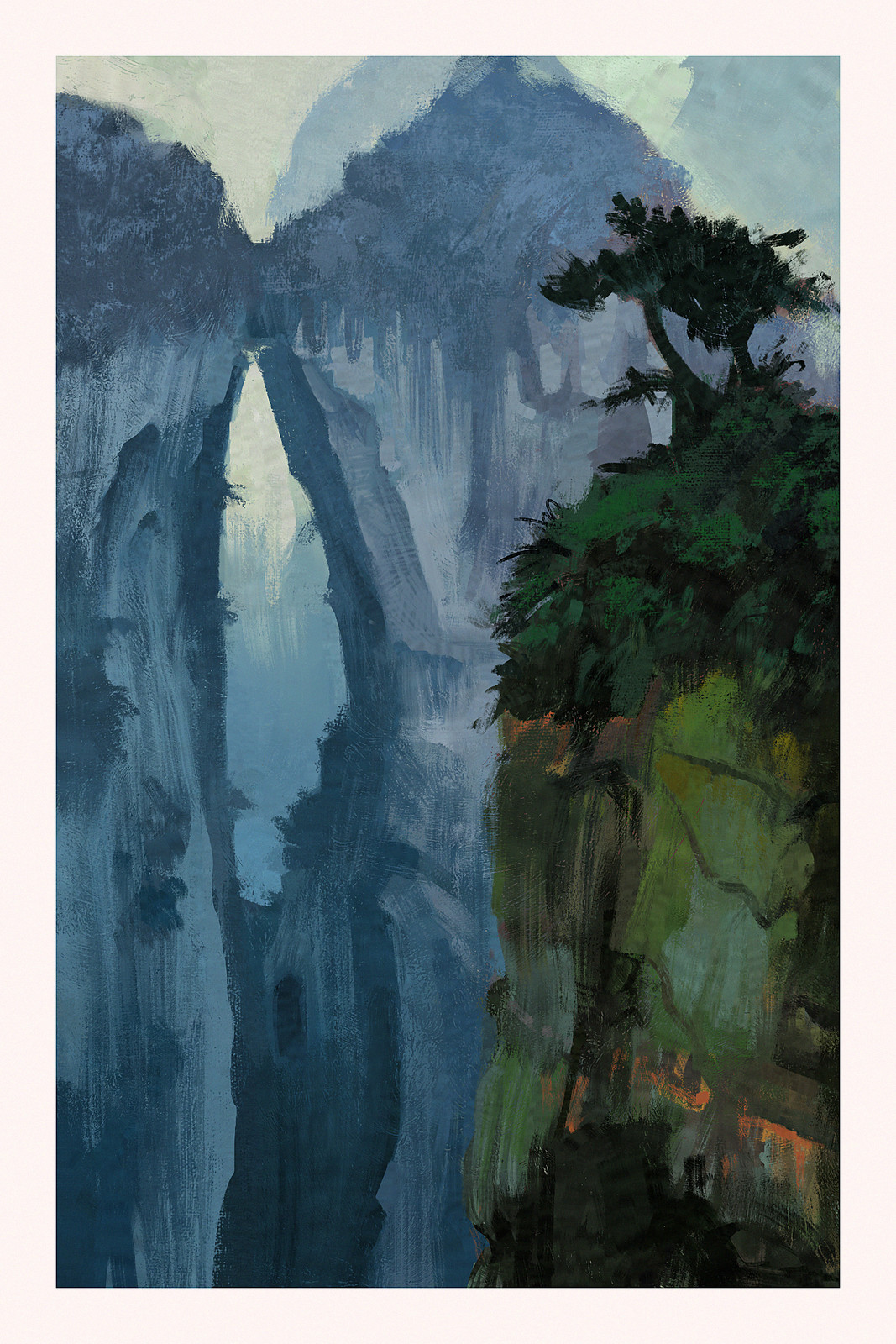 Landscape painting, from image ref.