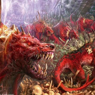 Antonio j manzanedo flesh hounds vs skeleton warriors manzanedo