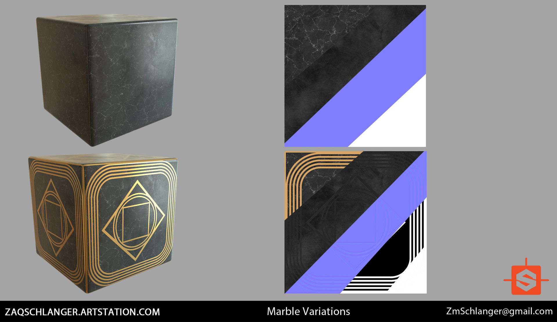 Both procedural marble materials made in Substance Designer
