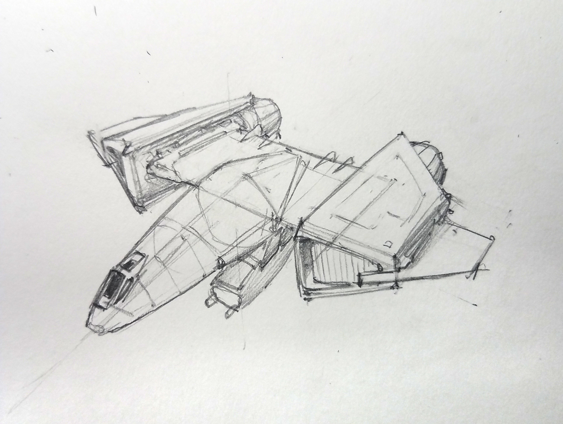 Eric geusz fighter sketches 2
