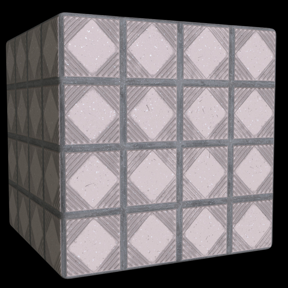 Tile material from a Substance Designer course at school.