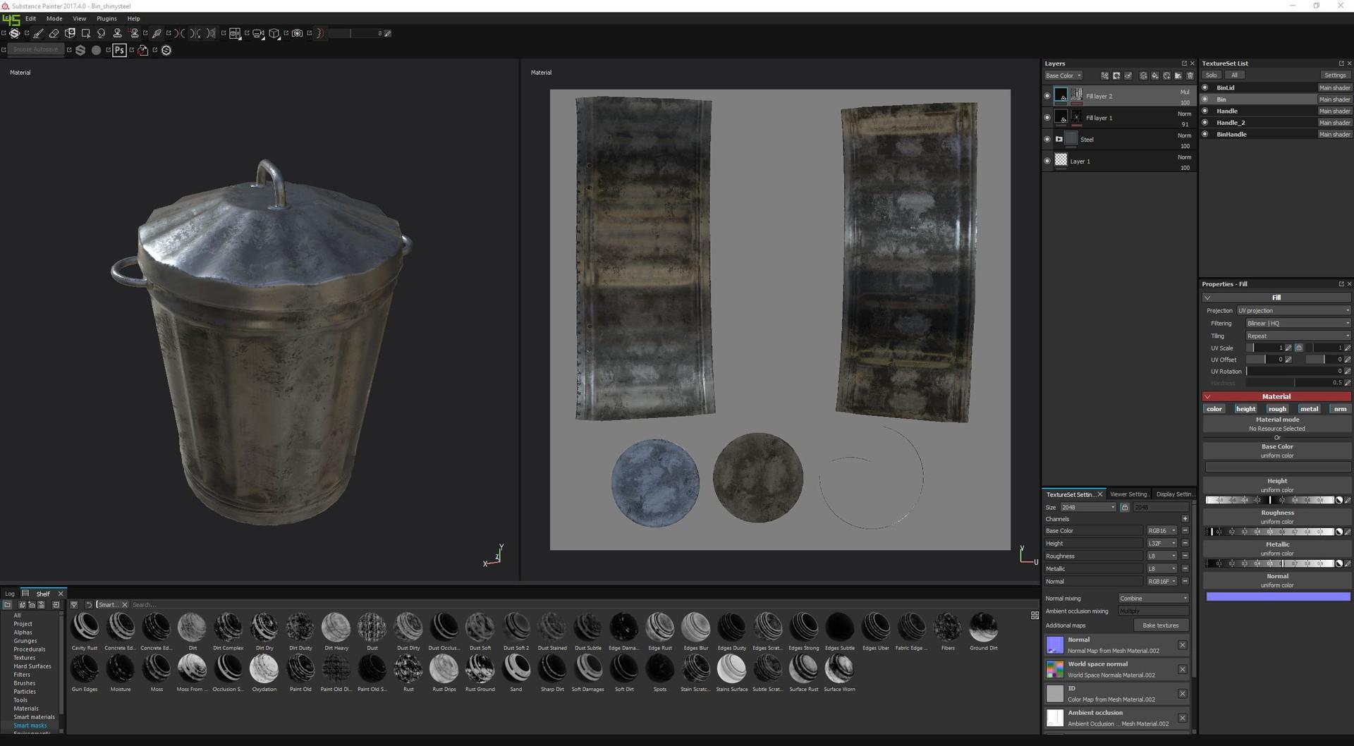 ArtStation - Bin / Trash Can, James Fisher