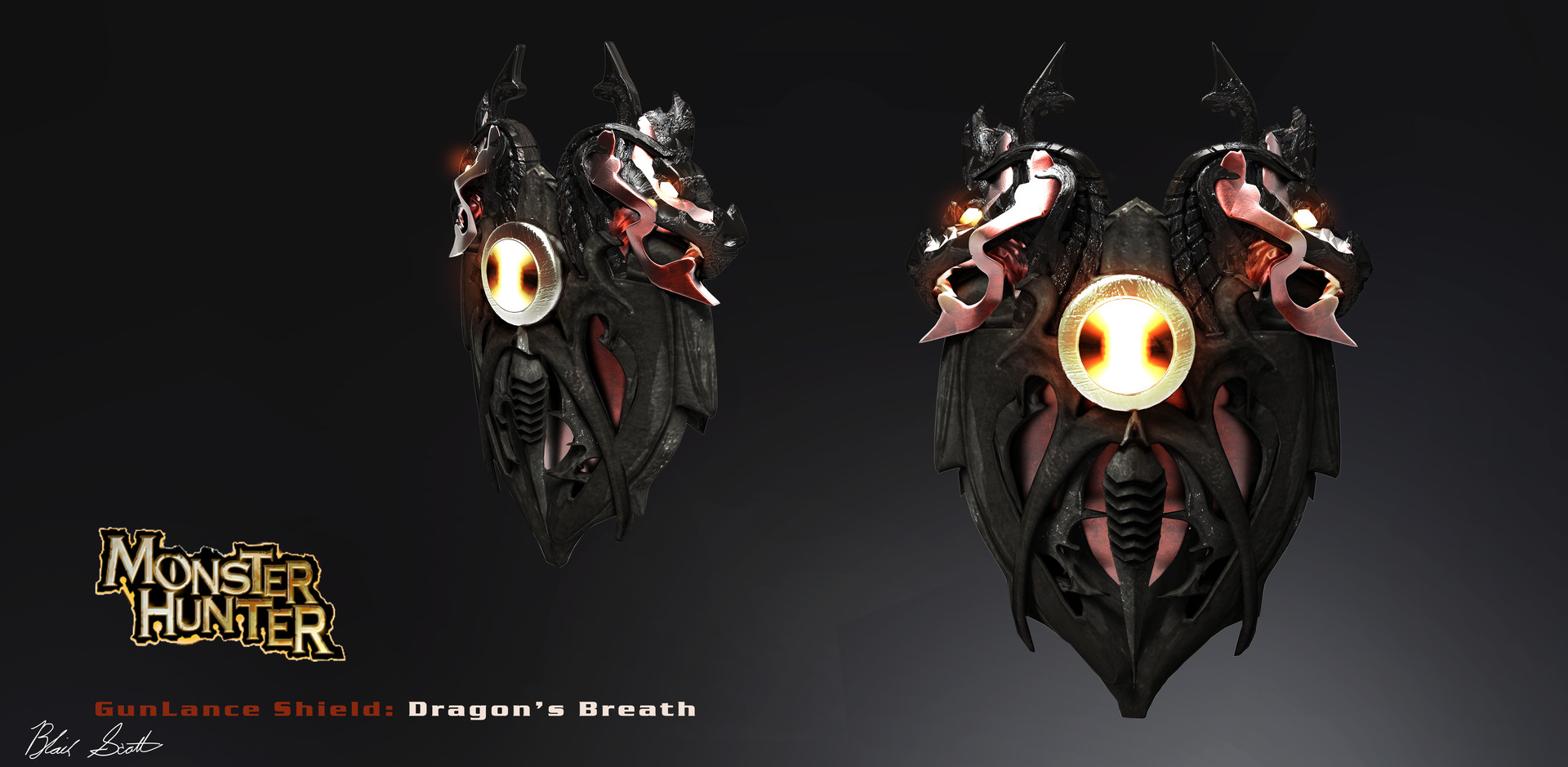 Blair scott gunlance dragonsbreath shield blair scott