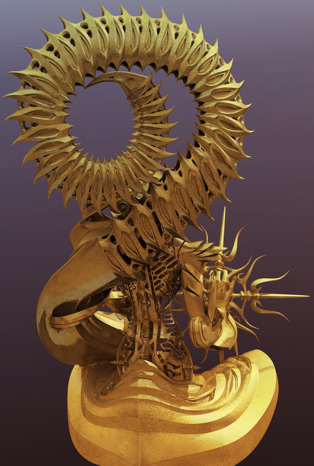 Bhaisajyaguru, CGI, for 3D printing