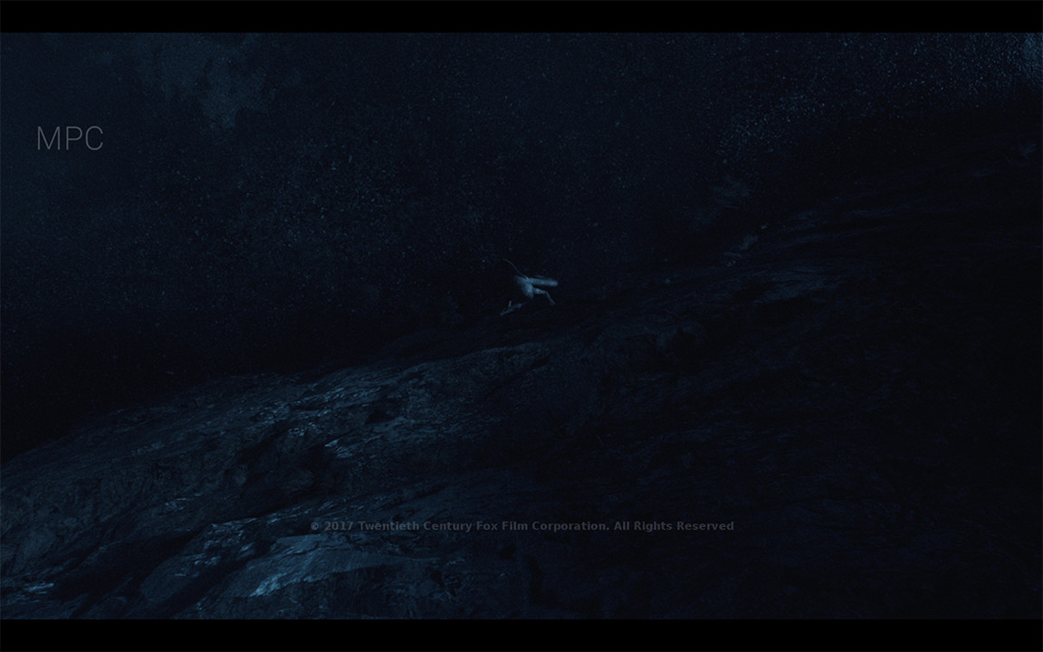 Projections of the rock/cliff texture and spec