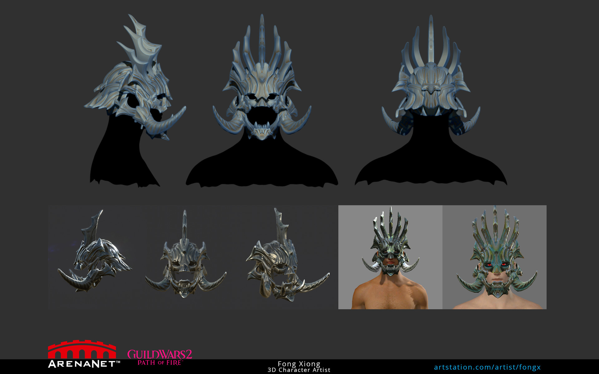 ArtStation - Guild Wars 2: Path of Fire, Renegade's Casque