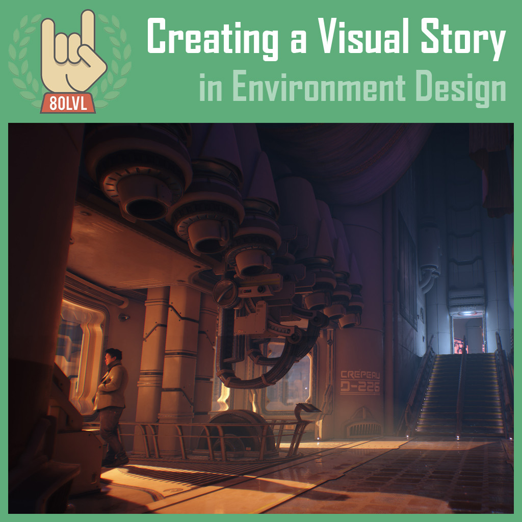 Follow this link for the full article: https://80.lv/articles/creating-a-visual-story-in-environment-design/
