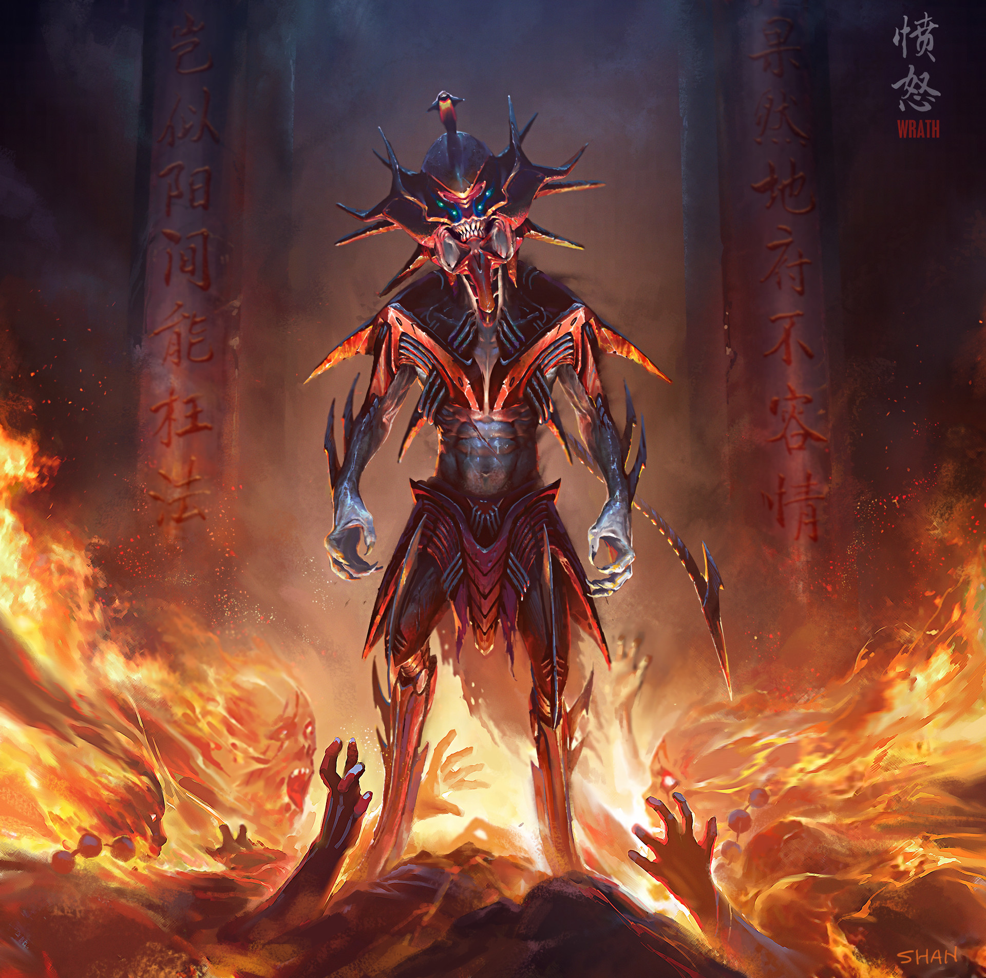 Shan qiao wrath render