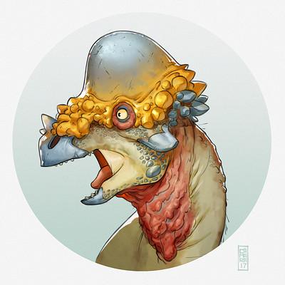 Alberto camara pachycephalosaurus bust