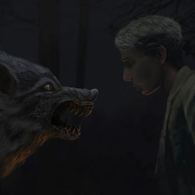 Dmytro veseliy boy and forest monster