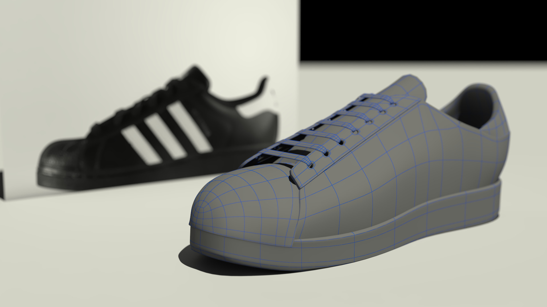 ArtStation - adidas super star 3d model, julian estrada