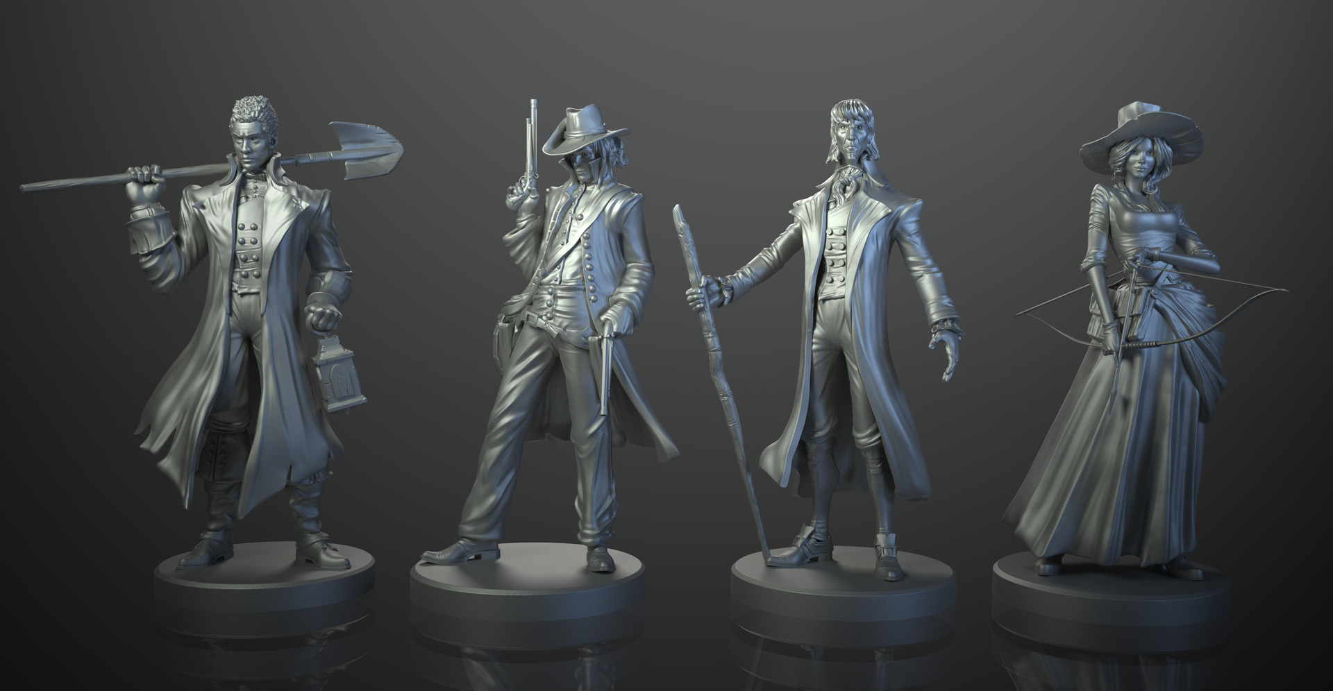 ArtStation - Legends of Sleepy Hollow boardgame - Cycles