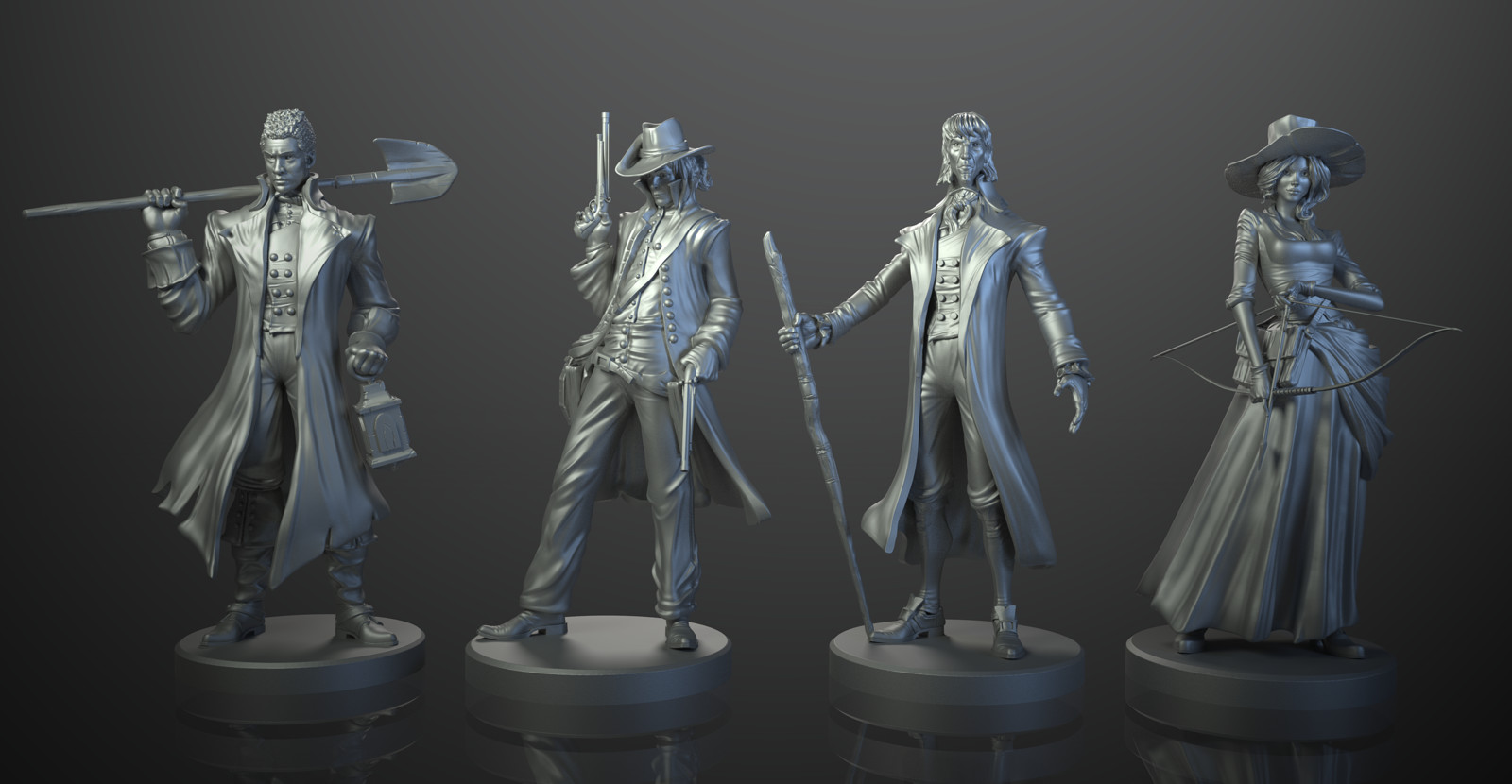 Legends of Sleepy Hollow boardgame - Cycles render