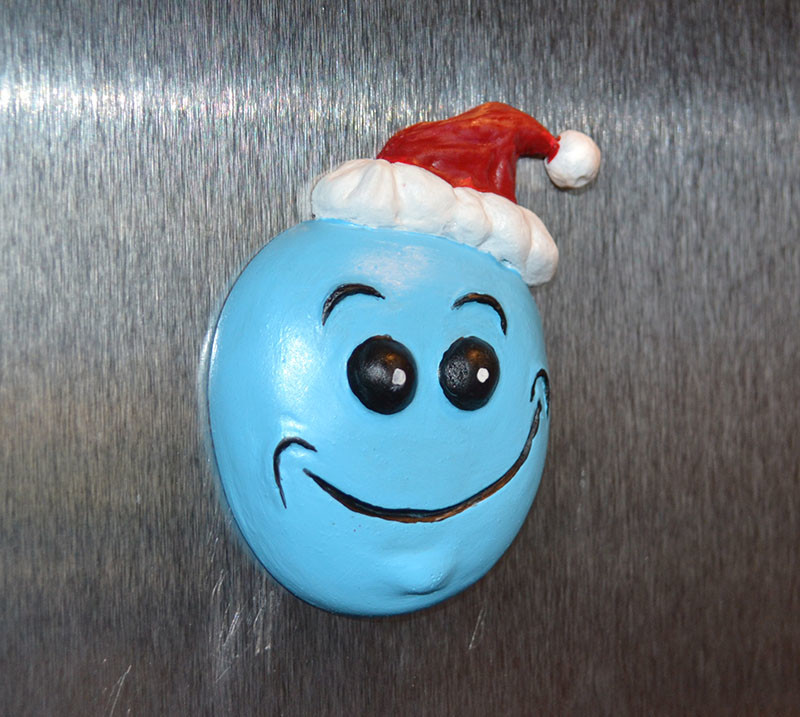 rick and morty christmas magnet set klaus gaar meeseeks fridge