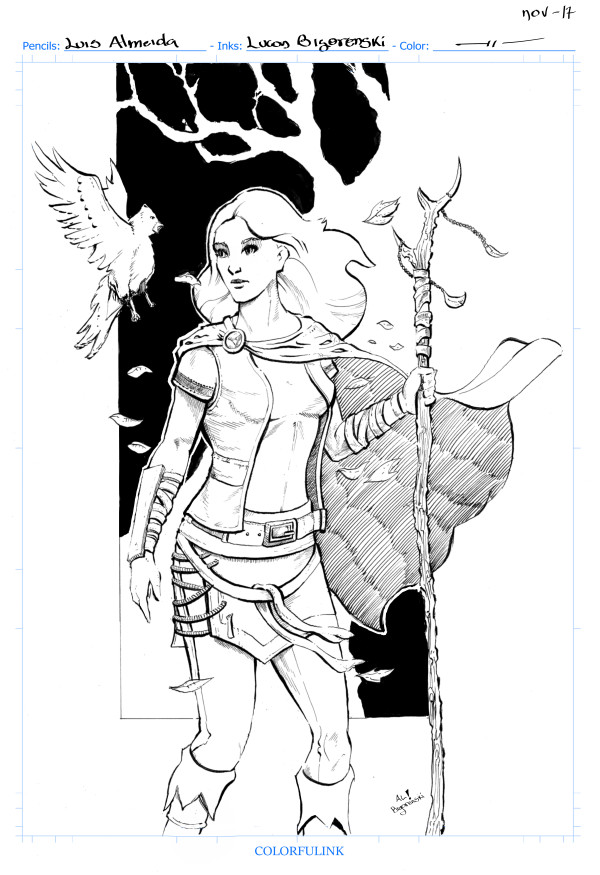 Inks by me over a design from Luis Almeida