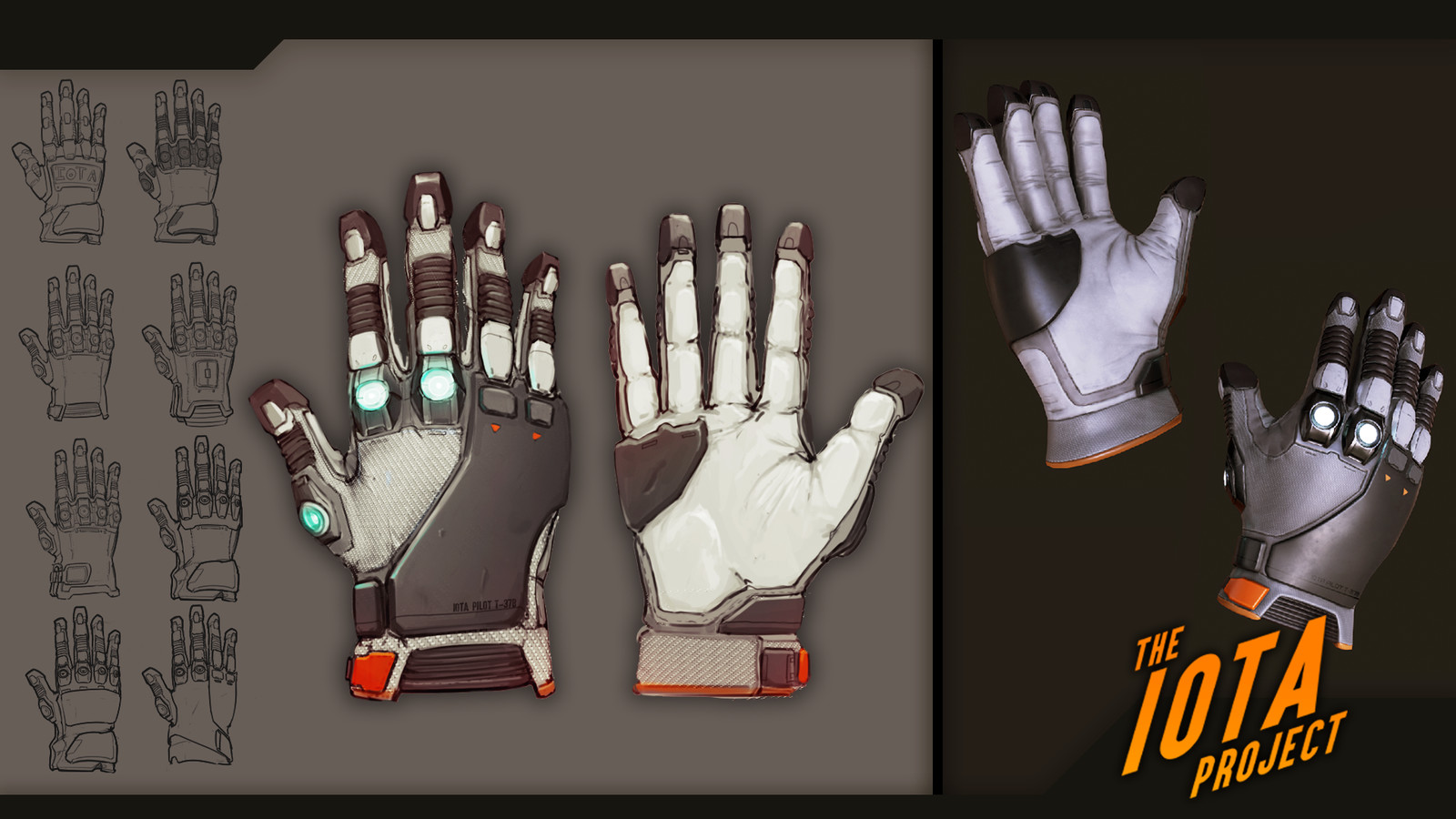 Glove concept. Model by Brenton Goodwin