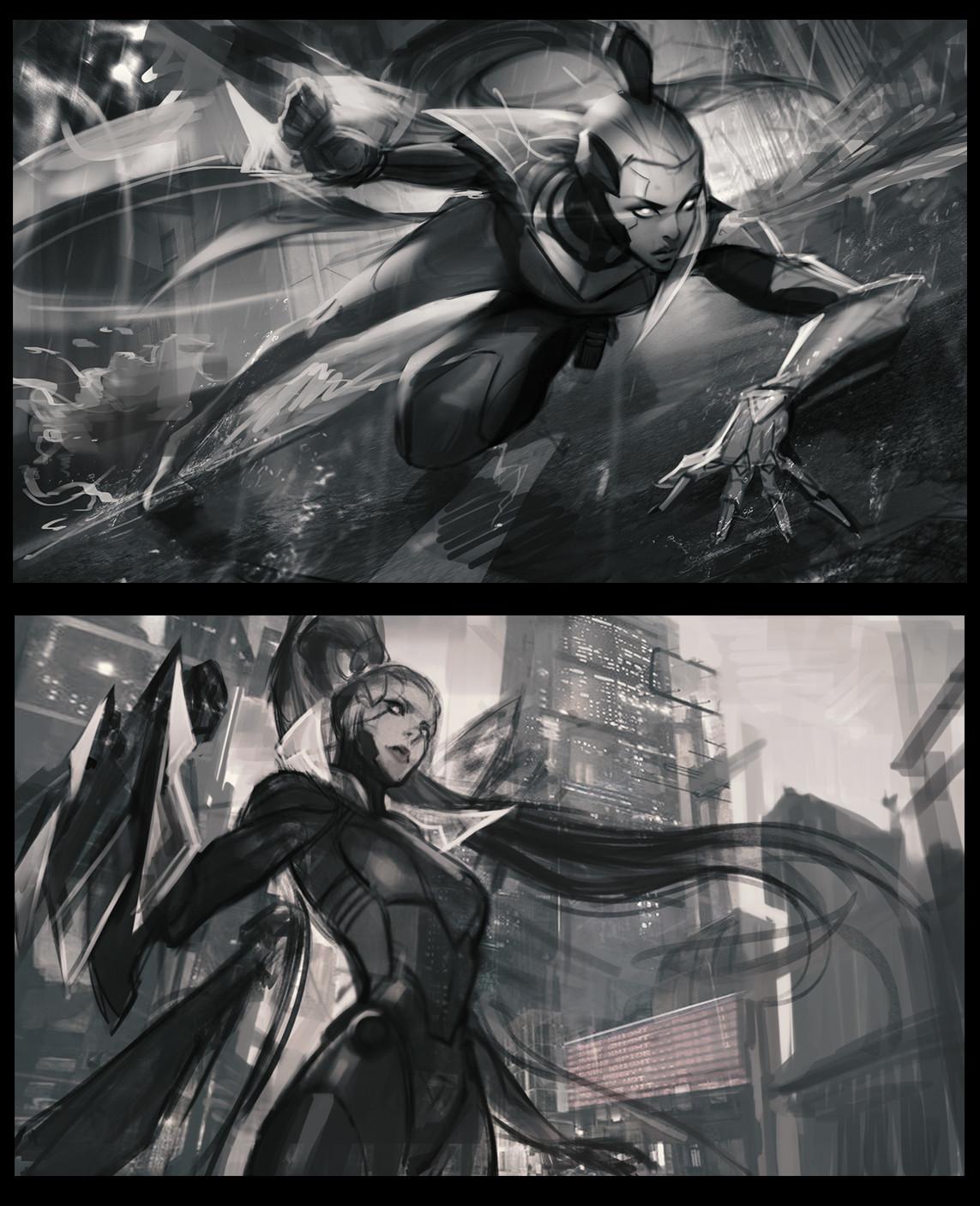 Outras duas poses ( sendo a primeira a escolhida ) - Sketches