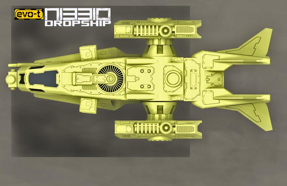 """NIBBIO"" dropship Work in progress"