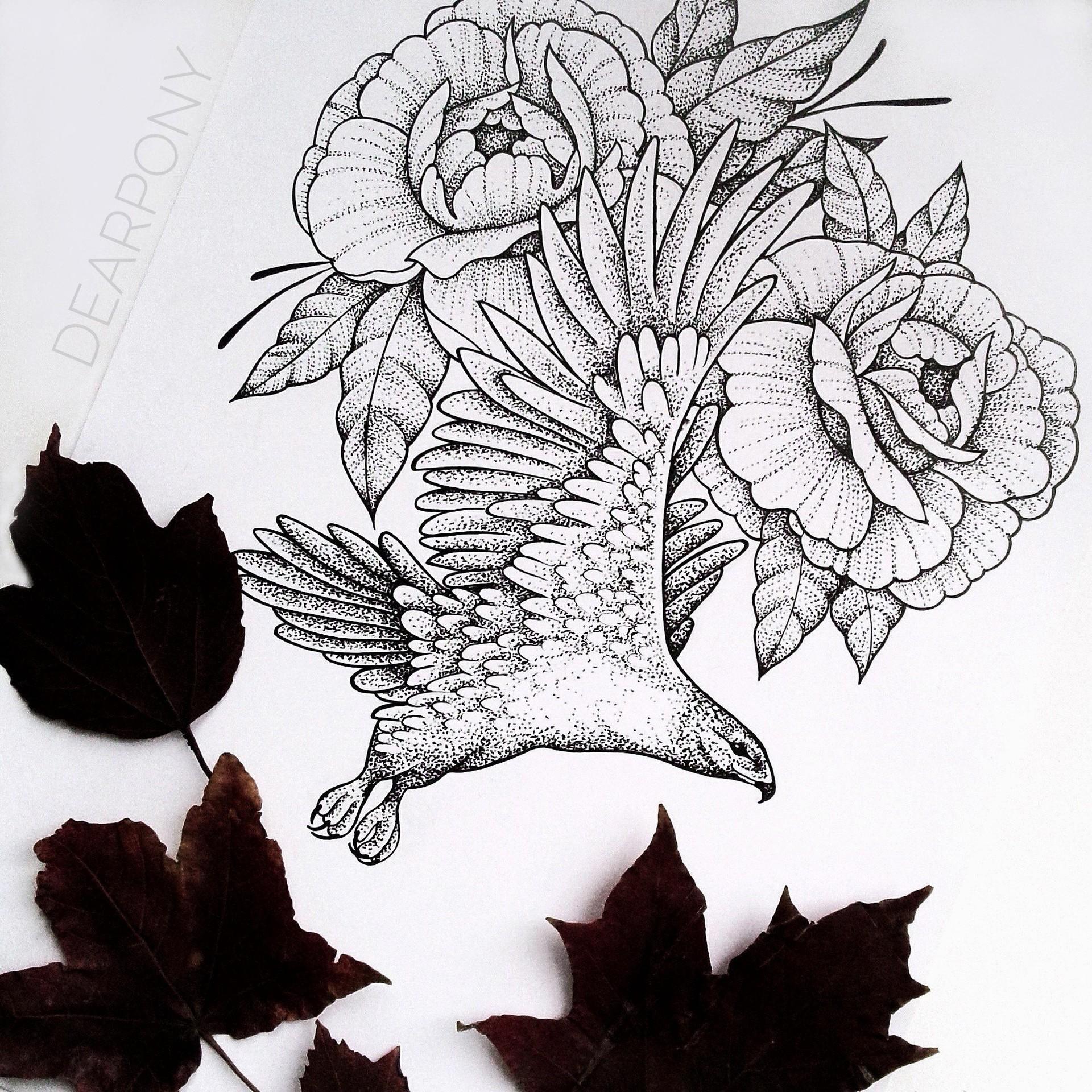 Artstation Animal Tattoo Sketch Anna Ivanova