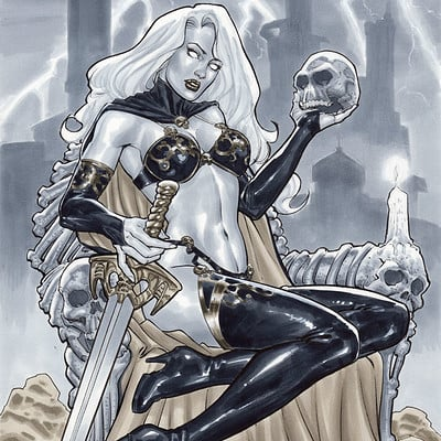 Marco santucci lady death 11x17 copia