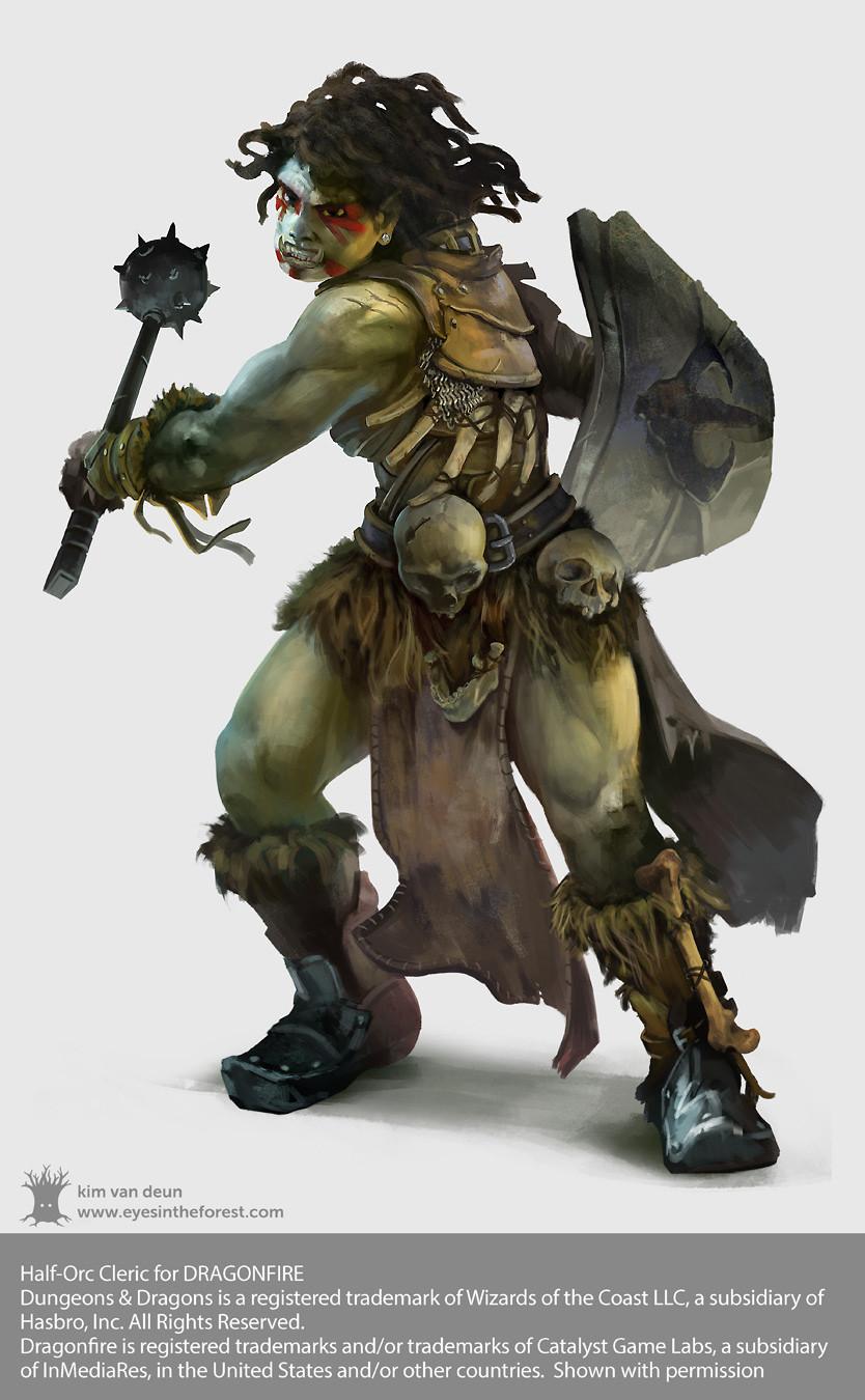 Kim van deun dragonfire female half orc cleric kim van deun 2x