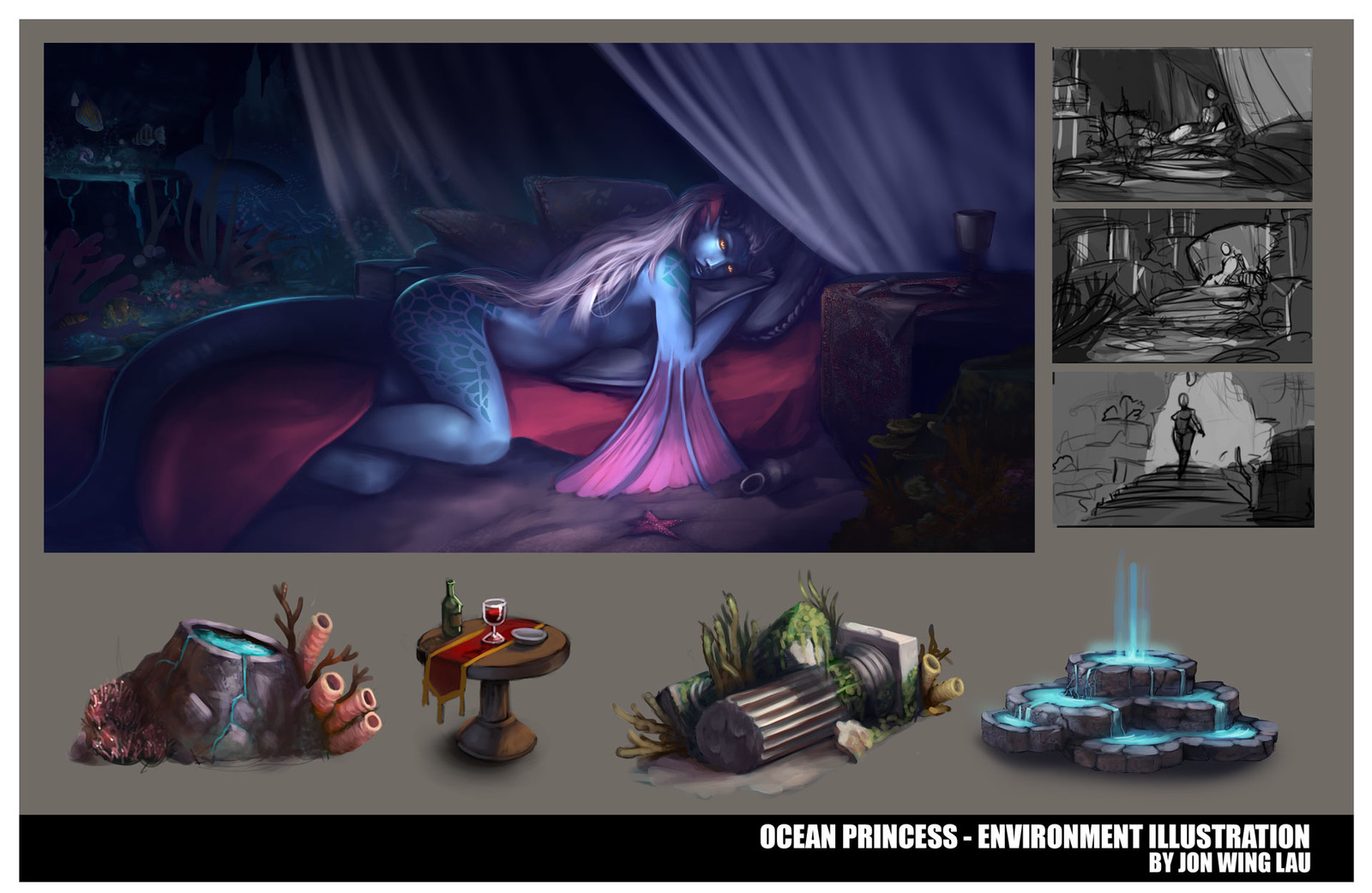 Ocean Princess - Environment Illustration