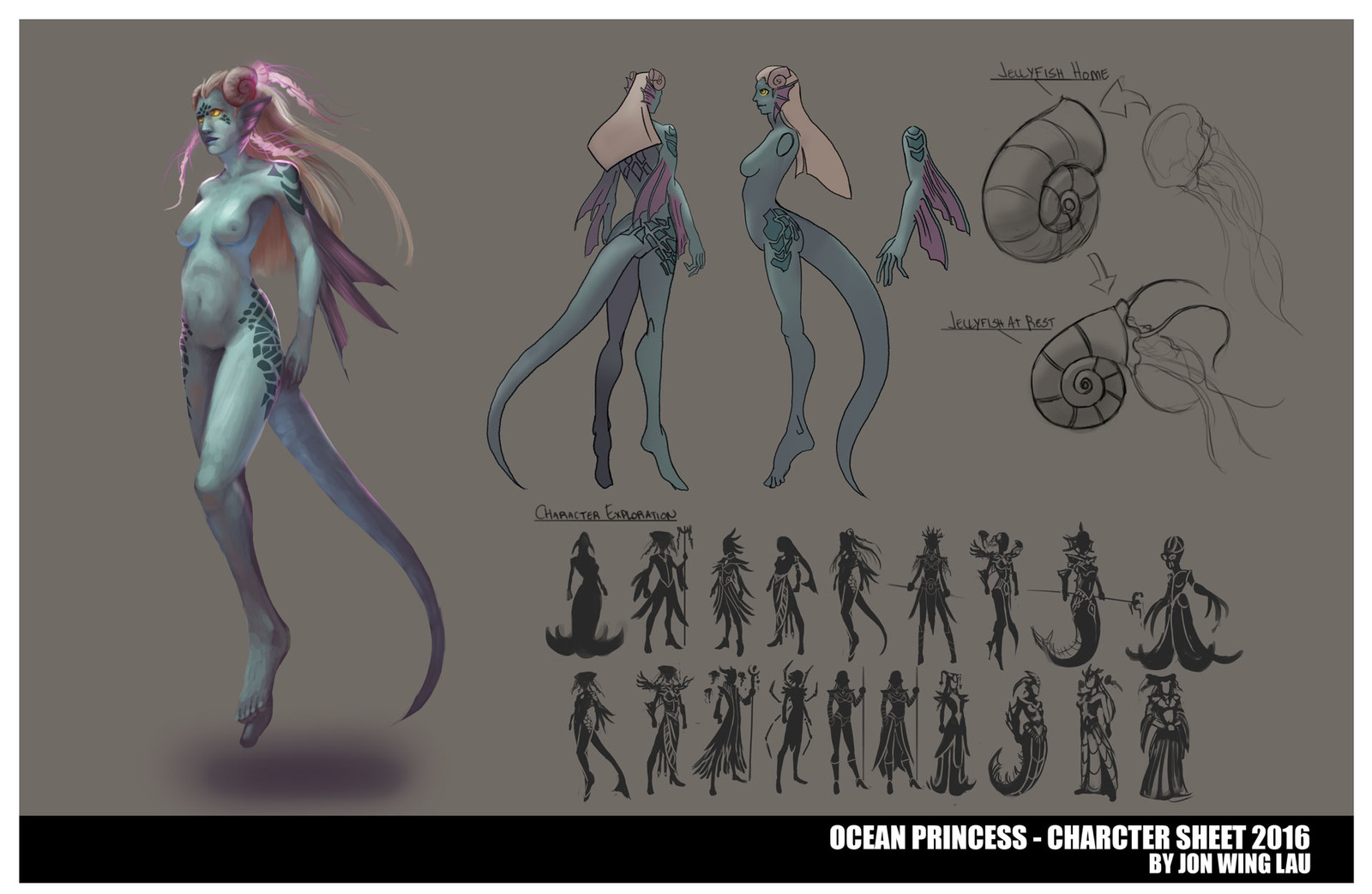 Ocean Princess - Character Design Sheet