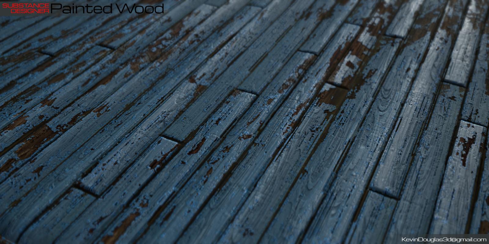 Painted Wood on Plane