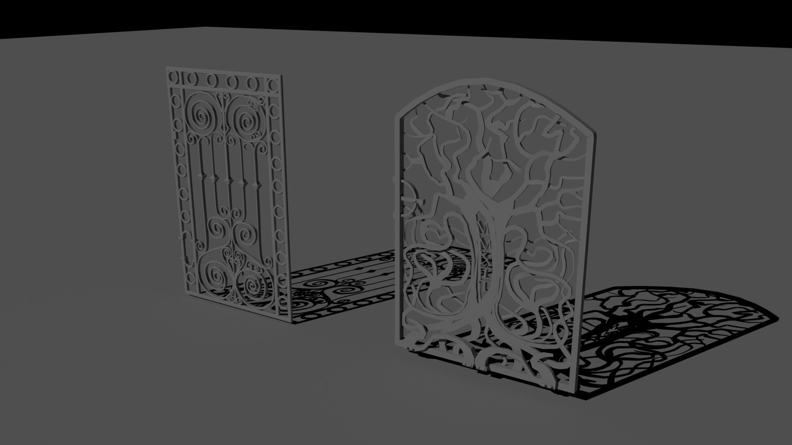 Model some additional door gates that can be use as an alternative door.