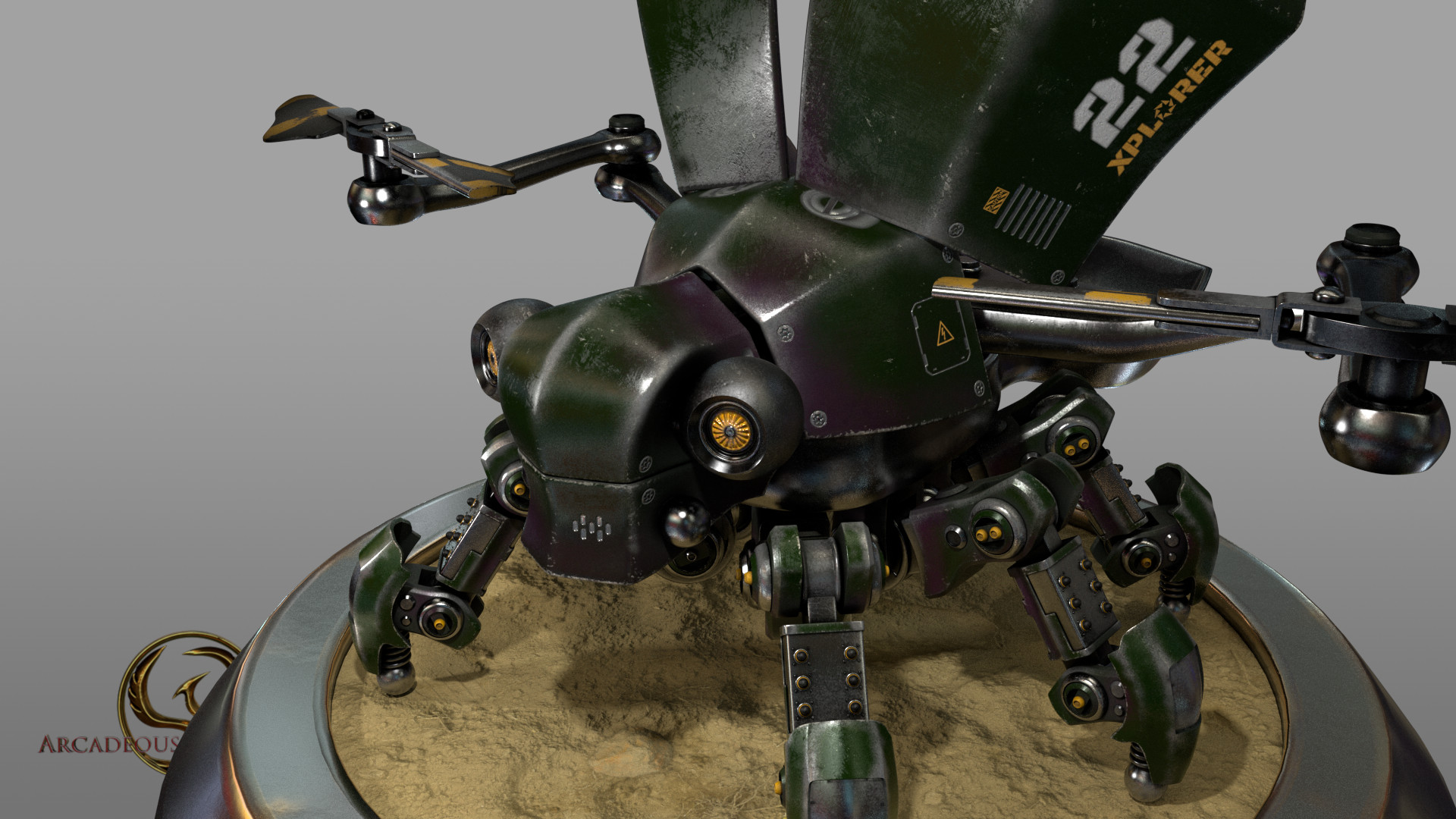 Arcadeous phoenix scarab weathered 3