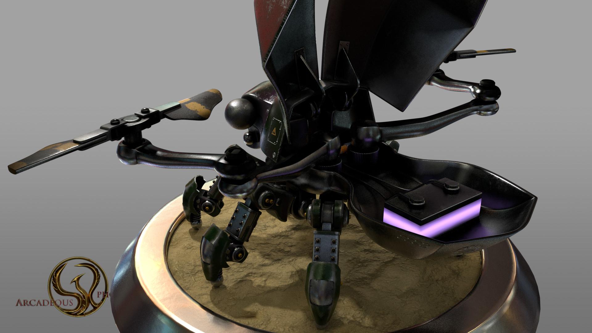 Arcadeous phoenix scarab weathered 4