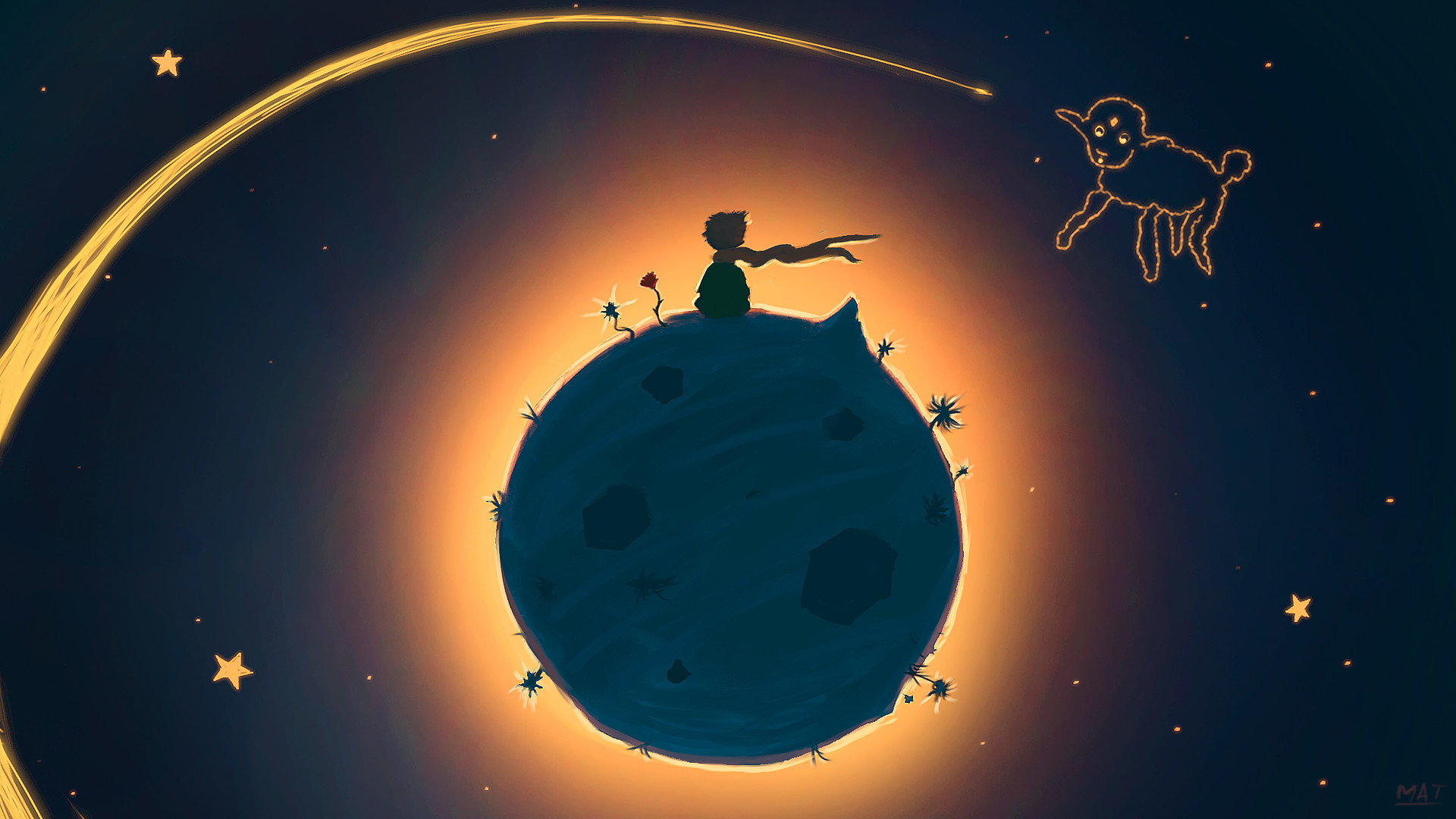 Artstation Small Planet Please Draw Me A Sheep Mathieu Seveno