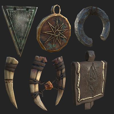 William hoglund mayer amulets textured