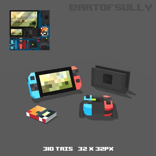 3D Pixel-Art Switch