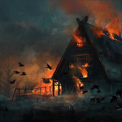 Consuelo pecchenino burning tavern