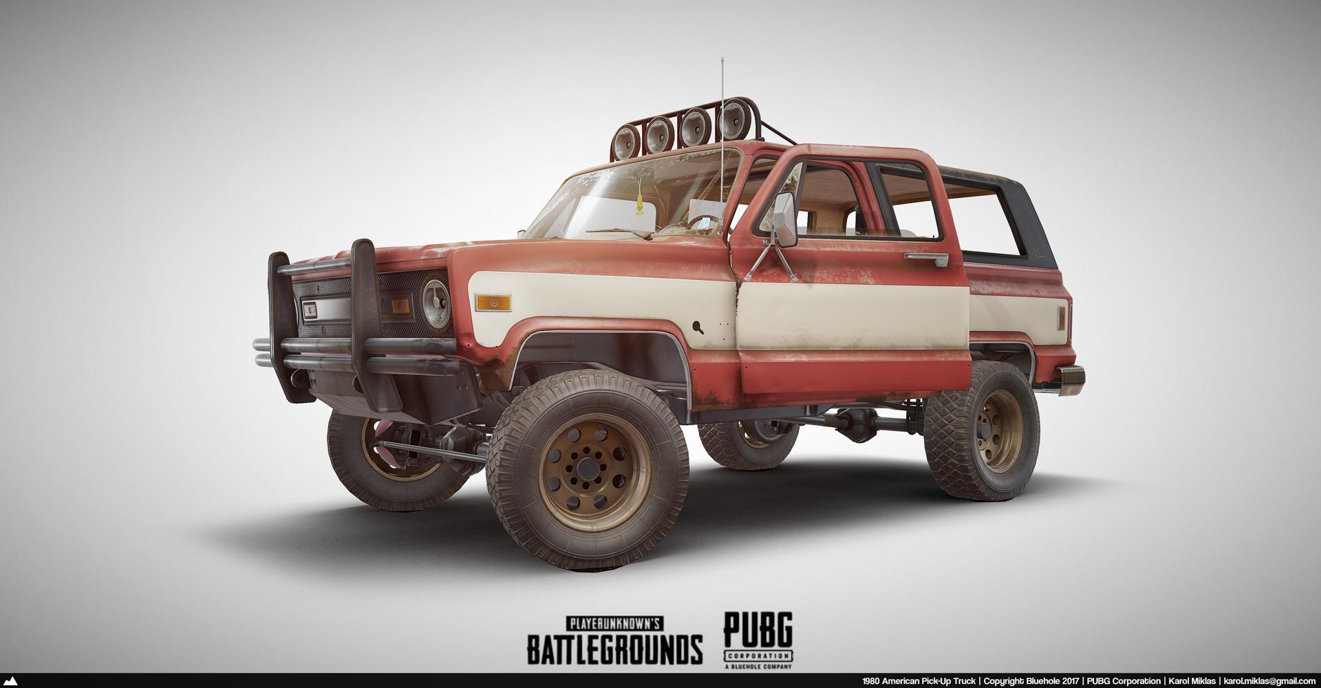 3d Model Playerunknown S Battlegrounds Buggy By Kmiklas: PUBG: Pick-Up Truck
