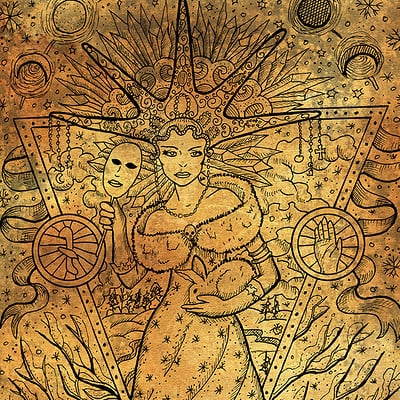 Vera petruk samiramay 02 february month graphic concept hand drawn illustration on paper texture1