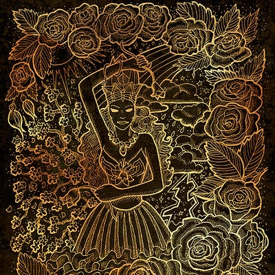 Vera petruk samiramay 05b may month graphic concept hand drawn engraved illustration on black texture1