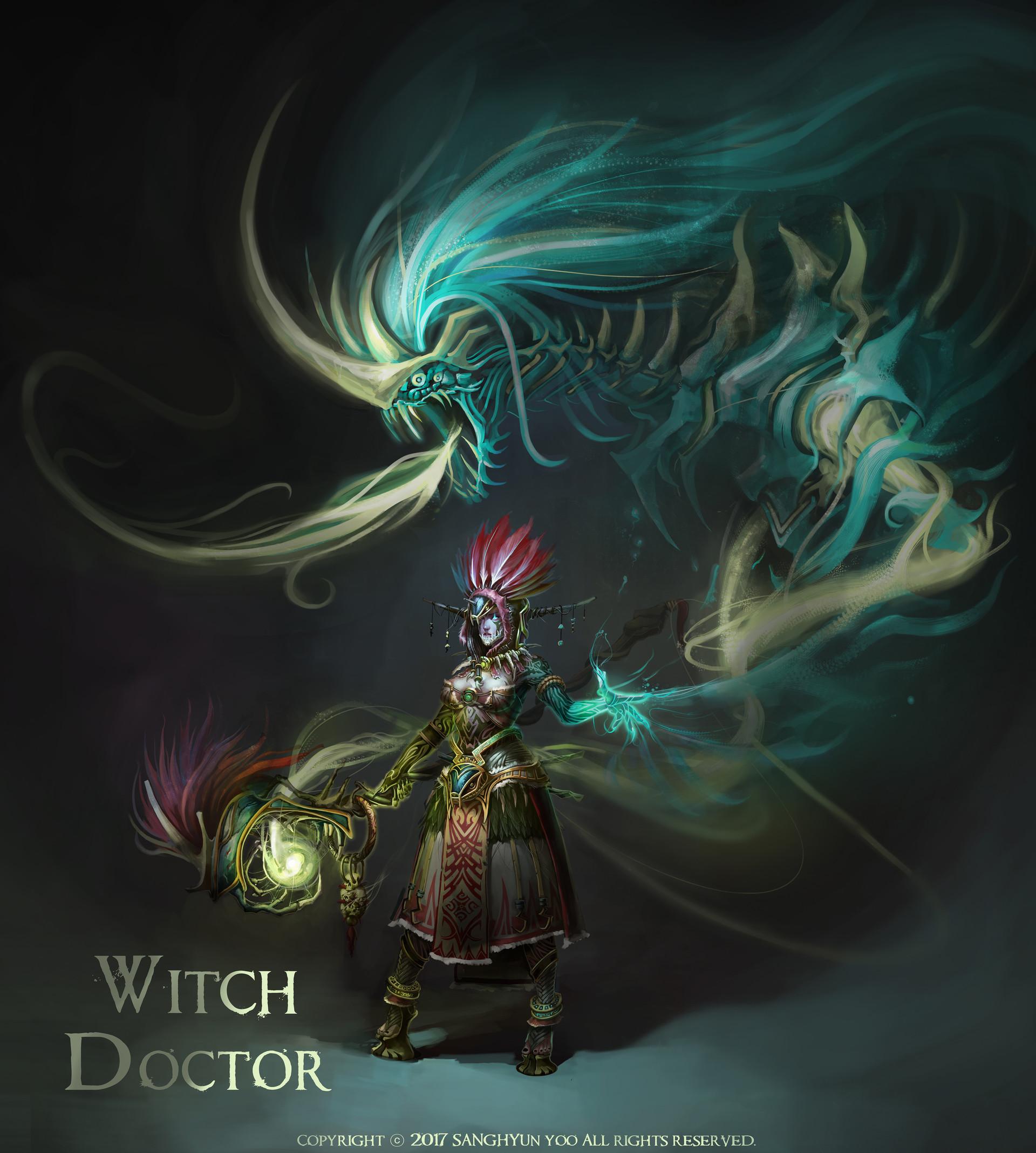 Artstation Witch Doctor Female Male Sanhhyun Yoo