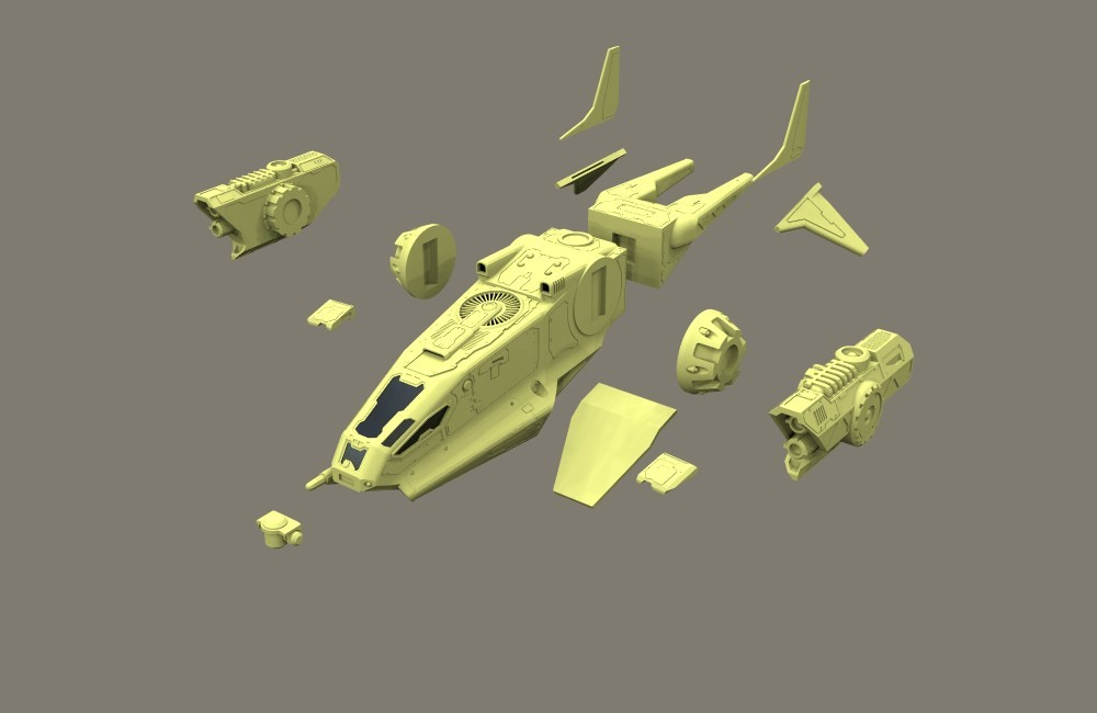 """NIBBIO"" dropship  Parts"