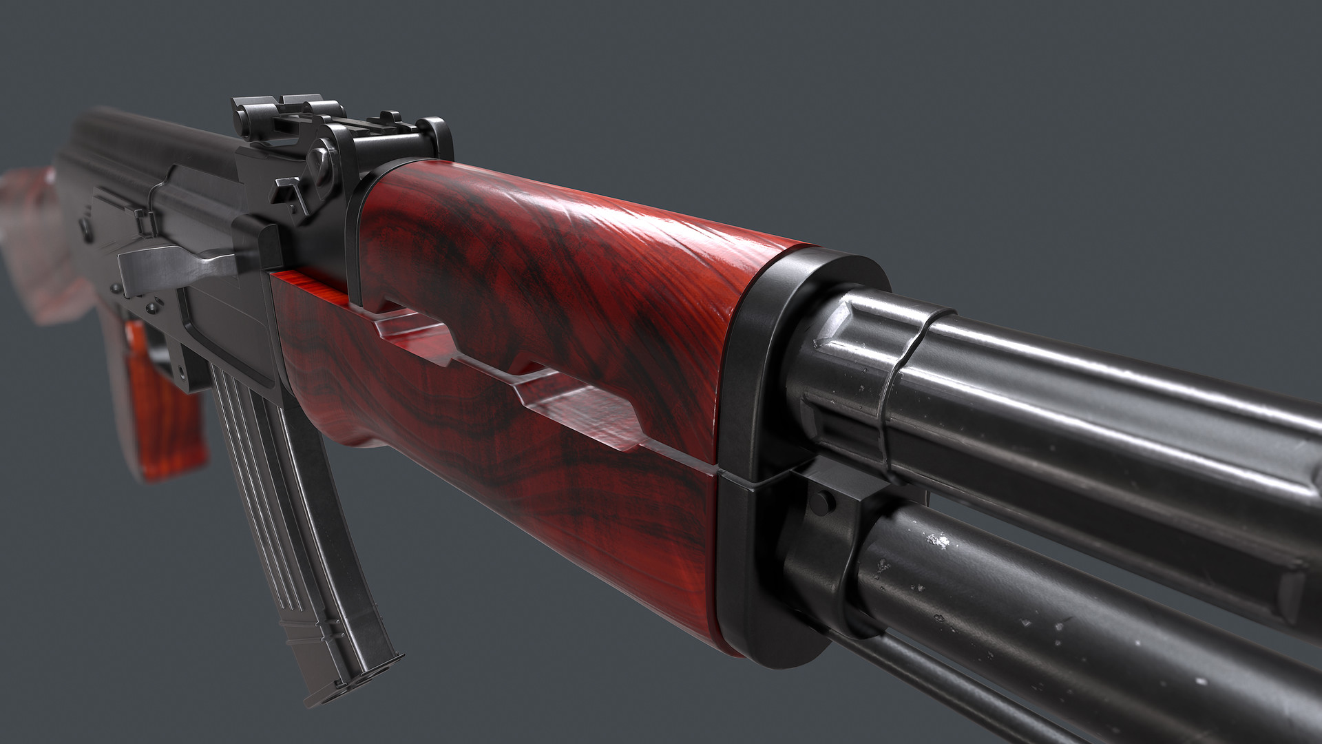 AK 47 Kalashnikov HD Wallpaper Download 1080x1920 Source ArtStation Ak 3D Model Saiful Islam