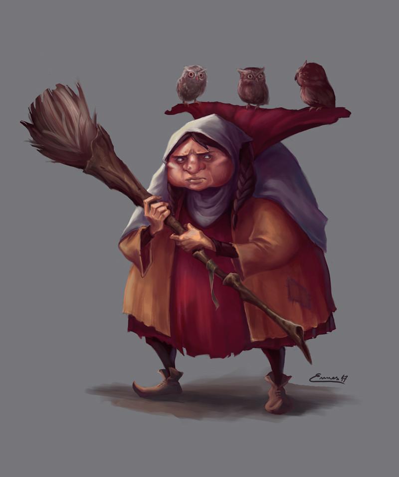 Grumpy Owl Lady