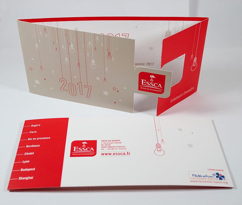 création carte de voeux ArtStation   Création d'une carte de vœux avec forme de découpe