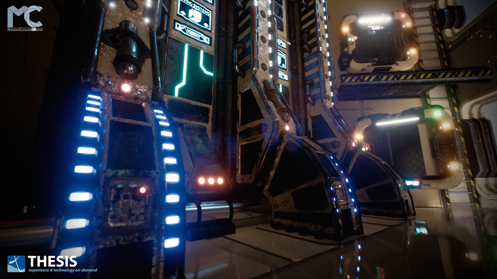 Sci-Fi Laboratory (Unreal Engine 4).