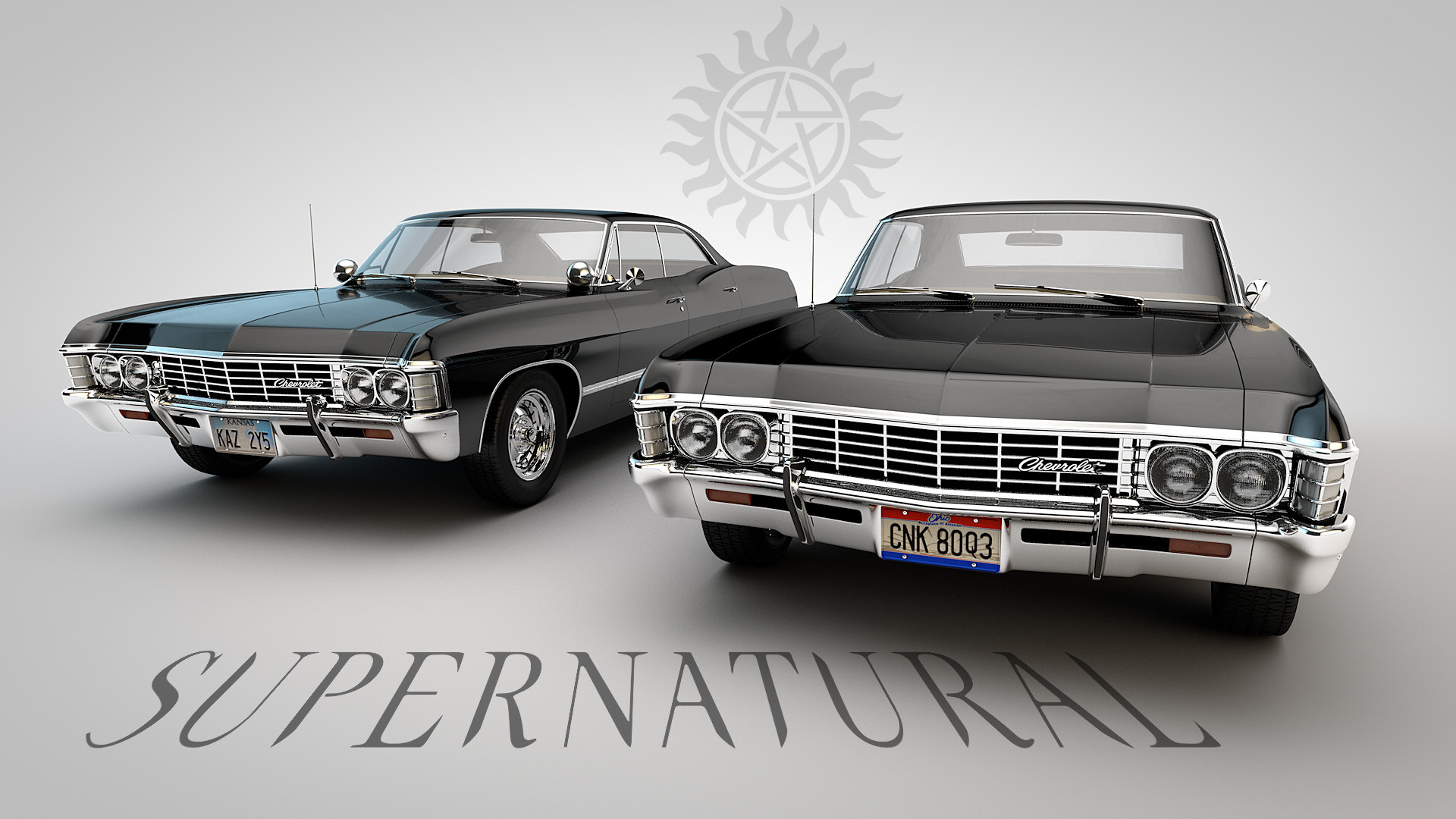 Troy Benesch Kansas And Ohio Chevy Impala Homage To The Tv - Supernatural show car