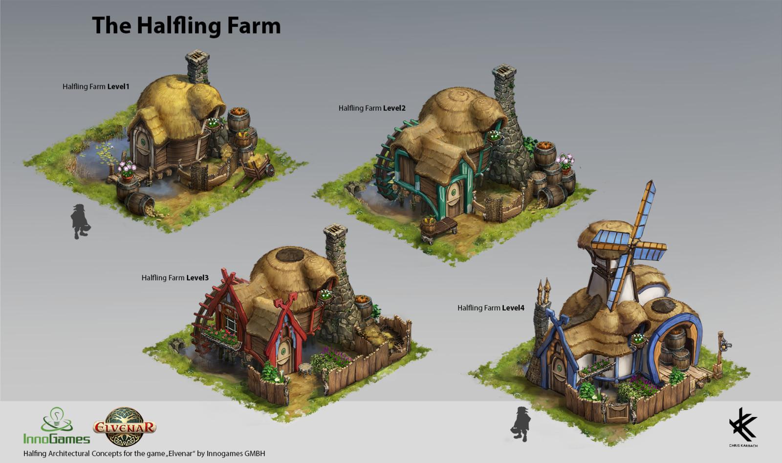 Halfling Farm - Level Progression